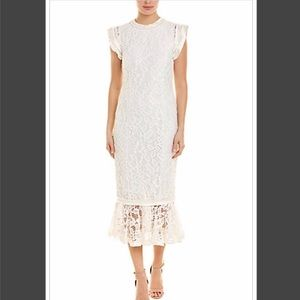 Alexis Kleo Midi Dress in Ivory Size Small